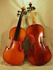 2 x Geige, Violine  4/4 und 3/4 um 1900 1 x mit Zettel