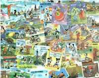 Disney Stamps Outstanding Collection of 300 Stamps - All Mint, All Different!!