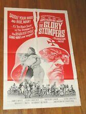 THE GLORY STOMPERS 1967 Biker Gang Movie Poster Original 27x41 DENNIS HOPPER