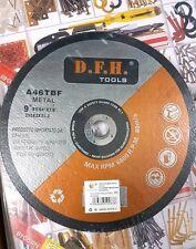 """Disco Per Smerigliatrice Angolare Flex Taglia Ferro Acciaio 9"""" 230mm dfh"""