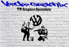 "VOLKSWAGEN 17"" VW Logo Stickers TRANSPORTER T5 T4 Campervan Bonnet Decal Euro"
