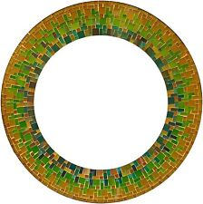 Zorigs Mirror Wall Art Décor – Handcrafted Decorative Wall Mirror, Yellow, Green
