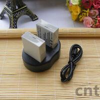 DUAL USB Charger for Canon LP-E8 EOS 550D,EOS 600D,EOS 700D & 2 BATTERY