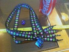 Black Green Pink Tartan Skull Bow Shoelaces Lases Laces Flirt New Shoe