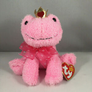 TY Beanie Baby - KISSABLE the Pink Frog (6 inch) NEW MINT with MINT TAGS