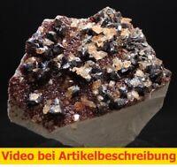 7334 Sphalerit Calcite ca 11*11*7 cm  Stonewall Mine USA Tennessee MOVIE