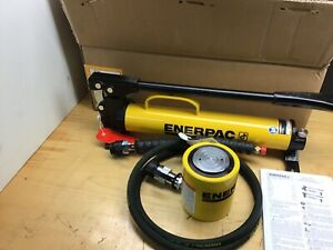 ENERPAC RCS302 P39 Pump/Low Height Hydraulic Cylinder Set, 30 Ton VERY NICE!
