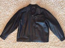 Men's Mazzoni Leather Jacket Coat Black Size XL Lining/Filler is 100% Polyester