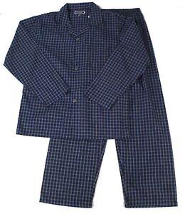 Club Room Mens Sleepwear Blue Black Small S Plaid Print Pajama Set $65 072