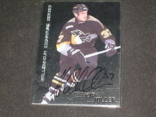 KIP MILLER  PENGUINS 1999 NHL CERTIFIED HAND SIGNED AUTOGRAPHED CARD
