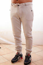 BNWT Close Up mens Trousers Pants Beige Low Crotch Beige Cream Rope Belt L Nice