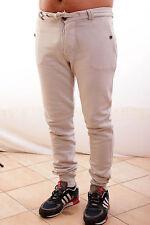 BNWT Close Up mens Trousers Pants Beige Low Crotch Beige Cream Rope Belt L Nice