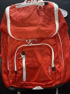 "Embark 19"" Jartop Elite Backpack Extra Large Capacity Red White Laptop 15.6"