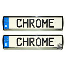 2x Chrom Kennzeichenhalter Fiat 500+Seicento+Cinquecento+Idea+Doblo+Tipo Tuning