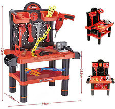 Childrens Tool Bench Play Set Work Shop Electronic Drill Kit Kids Workbench Toy