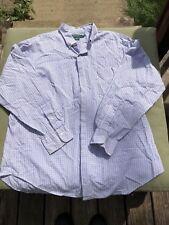 Lauren Ralph Lauren 17 34/35 White checker button down Shirt