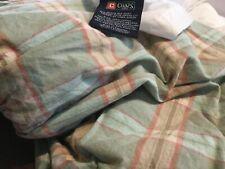 Ralph Lauren Chaps blue Plaid Bed skirt/dust ruffle,15Drop,Queen Size,EUC