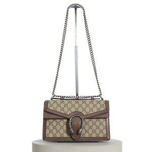 GUCCI 2490$ Dionysus GG Top Handle Bag In GG Supreme
