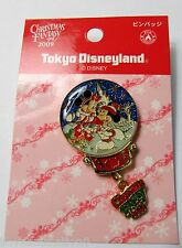 Disney TDL Christmas Fantasy Mickey Mouse and Minnie Mouse in Snow Globe Pin