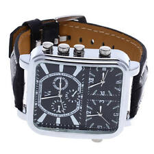 Gents Men's Oversized quartz Watch Large Face Rubber Strap Sport Army Wristwatch