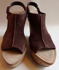 WOMENS SIZE 10 (B,M) LEATHER UPPER CORK WEDGES  BY ELIZABETH AND JAMES, NEW!