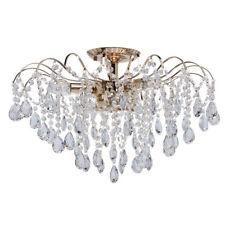 Shabby chic lampadario classico colore oro lucido gocce cristallo barocco