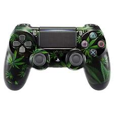 PS4 Controller Cover Case Hülle Gehäuse Front Weed Cannabis Style Slim Pro V2