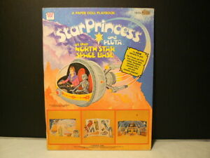 "Paper Dolls, ""Star Princess & Pluta"" 1979, W:1839, 2 Dolls, 4 Uncut Pages + 5 Pa"