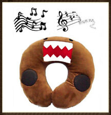 MUSIC & SOUND DOMO KUN U SHAPED OFFICE TRAVEL NECK SOFT PLUSH PILLOW STUFFED TOY
