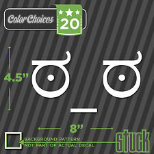 Look Of Disapproval Face - vinyl decal sticker meme funny character lowered ugly