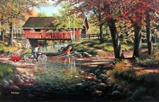 """Rock Ford & Toll Bridge  By Ken Zylla Signed and Numbered  Print  28"""" x 18"""""""