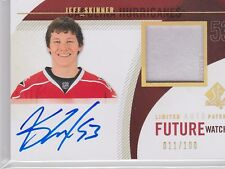 2010-11 SP AUTHENTIC JEFF SKINNER LIMITED AUTO PATCH ROOKIE /100 RC UD 295