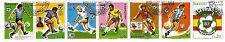 PARAGUAY striscia 7 francobolli Sport La calcio Spagna coppa mondiale 1982