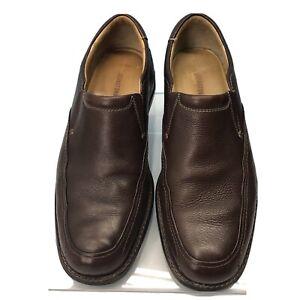 JOHNSTON & MURPHY Shuler 20-1912  Men Size 9 M Sheepskin Loafers Shoes Slip On