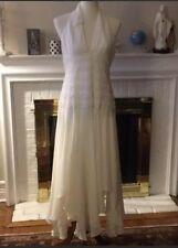 🌻Bcbg maxazria cocktail cream silk dress Sz 12