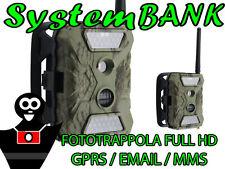 Professionale FOTOTRAPPOLA VIDEO FULL HD TRIAL CAMERA 12MP 1080p + GPRS MMS