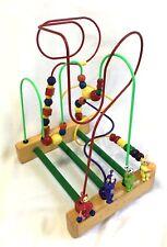 Vintage 1998 Educo Wood Bead Maze Teletubbies Dexterity Activity Rollercoaster