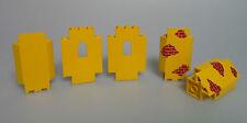 LEGO® Ritter / Castle 5x Fenster Wand Eck Panel gelb 2345 4444 aus 6276