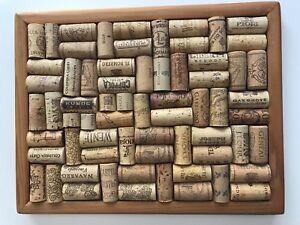WINE Lovers Cork Trivet Hot Plate Wood Frame Bar Decor Vineyards or Hang on Wall
