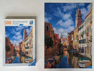 """Ravensburger 499 Piece Jigsaw Puzzle """"In Venice"""" Italy Canal Water"""