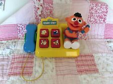 Sesame Street Vintage Ernie Interactive Telephone Excellent Condition RARE FAB!