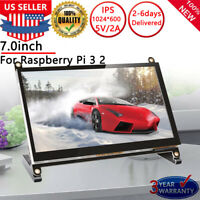 7 Inch Touch Screen Display Monitor 1024×600 For Raspberry Pi 3 2 Model B B+ PC