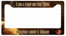 L@K! Firefly Serenity I am a leaf on the wind - License Plate Frame - Wash