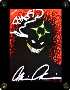 EVIL ERNIE GLOW IN THE DARK CHROMIUM CARD 24 SIGNED BY CREATOR BRIAN PULIDO