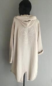 Italy Sweatshirt Jacke Cardigan Kapuze Stern 3D beige Gr. 36 38 40 42 Neu