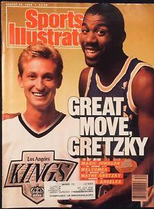 8.22.1988 Sports Illustrated WAYNE GRETZKY LA KINGS & MAGIC JOHNSON LA LAKERS