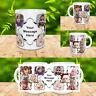 PERSONALISED MUG 10 PHOTO COLLAGE ADD TEXT CUSTOM DESIGN GIFT TEA COFFEE CUP v1