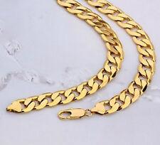 oro 24k cadena tipo para caballeros de alta calidad en amarillo 60cm infinity