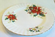 Vintage Royal Albert Christmas Poinsettia Bread & Butter Plate