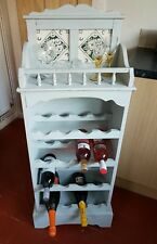 HAND PAINTED  WINE RACK IN GRAY